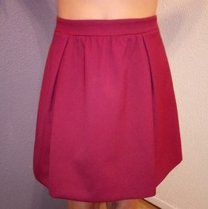 J.Crew OO Burgundy Pleated Aline Skirt NWOT
